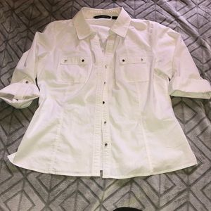 White Button Up Zac and Rachel Blouse